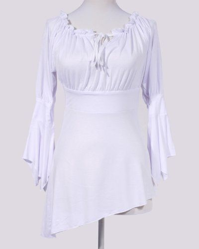 Stylish Sexy White Off Shoulder Hot Bell Sleeve Blouse Top SC11005A Shaper Corset. $42.99