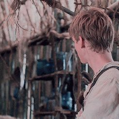 When Minho is sassing the other runners and Mama Newt has to go and tell him to shucking slim it.