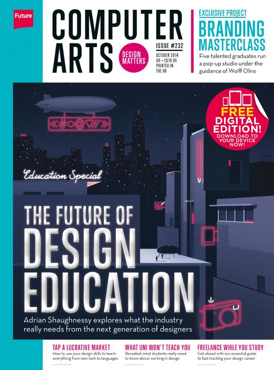 Dedicated to design education, issue 232 of CA is packed with insight from Adrian Shaughnessy, Fred Deakin and more, plus a branding masterclass with Wolff Olins – on sale now!
