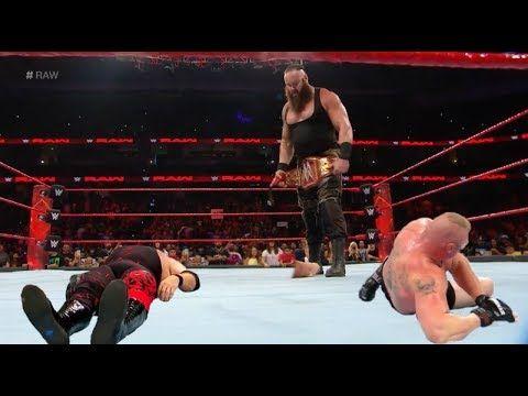 WWE 2017 Braun Strowman vs Brock Lesnar vs Kane ChampionShip Match