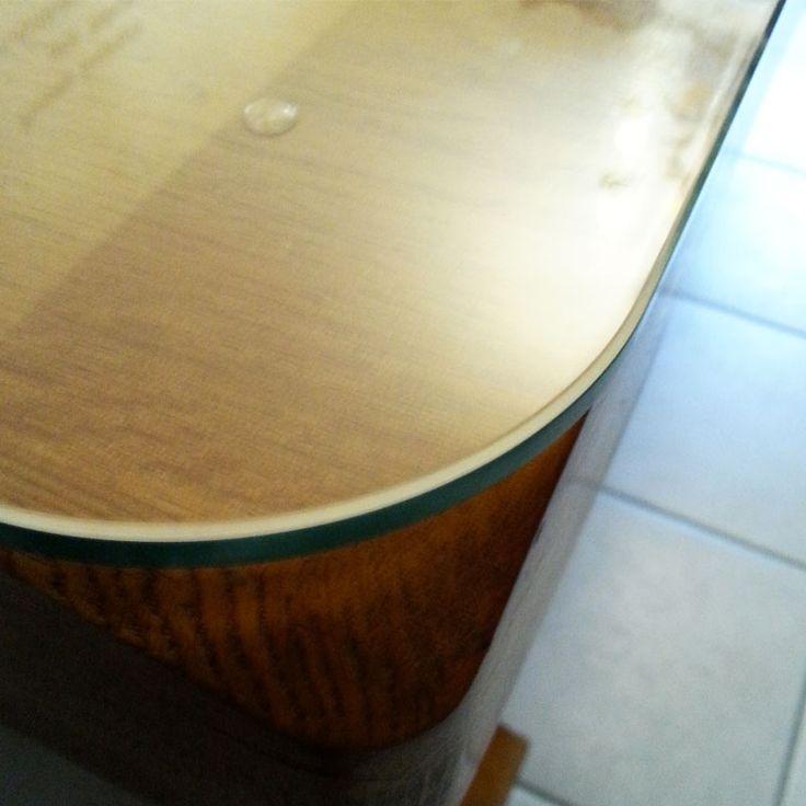 verre tremp sur mesure pour prot ger une table en bois plateau de table en verre tremp. Black Bedroom Furniture Sets. Home Design Ideas