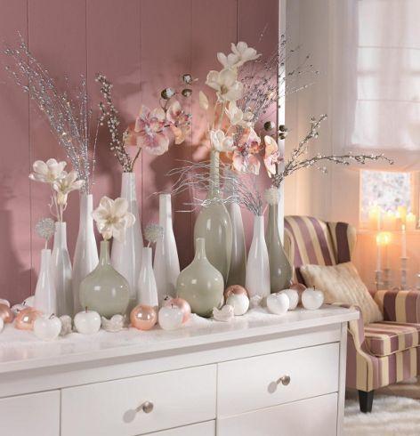 Vase Glas Weiß