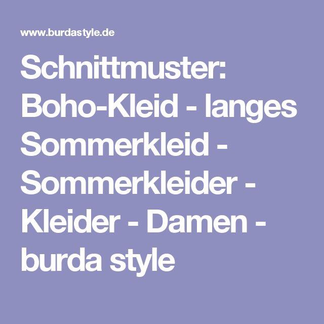 Schnittmuster: Boho-Kleid - langes Sommerkleid - Sommerkleider - Kleider - Damen - burda style