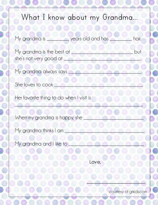 """My Grandma"" printable for mothers day"