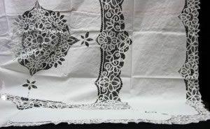 Elite Battenburg Lace Bedding ensemble #lace #bedding #linens #homedecor