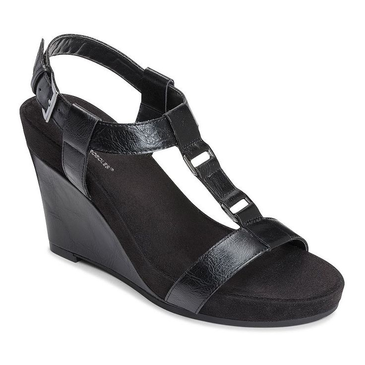 A2 by Aerosoles Plush Nite Women's Espadrille Wedge Sandals, Size: medium (9.5), Black