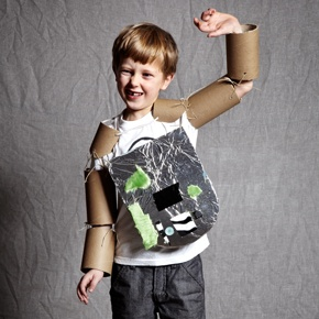 Armor made of paper tubes.