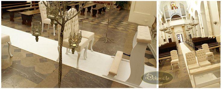 DEKORADO - dekoracje ślubne - sali weselnej, auta, kościoła :: Dekoracje ślubne i weselne :: Dekorowanie kościoła