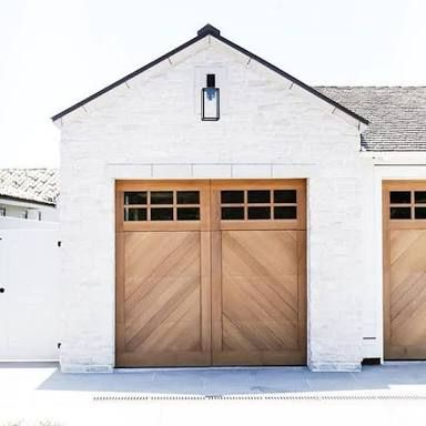 63 best farmhouse style images on pinterest farmhouse for Farm style garage doors