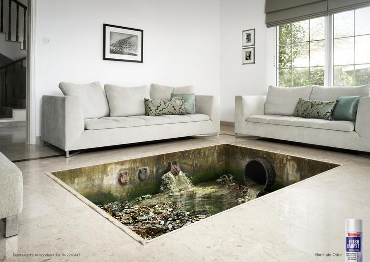 Award:  EMERALD / Category: ART DIRECTION / Campaign: Smelly carpet: Sewage / Advertiser: Al Mobidoon / Agency: Grey MENA, Lebanon