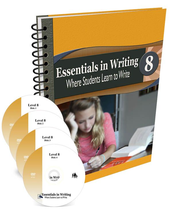 Essentials in Writing Level 8 Combo (DVD and Textbook/Workbook) | Main photo (Cover)