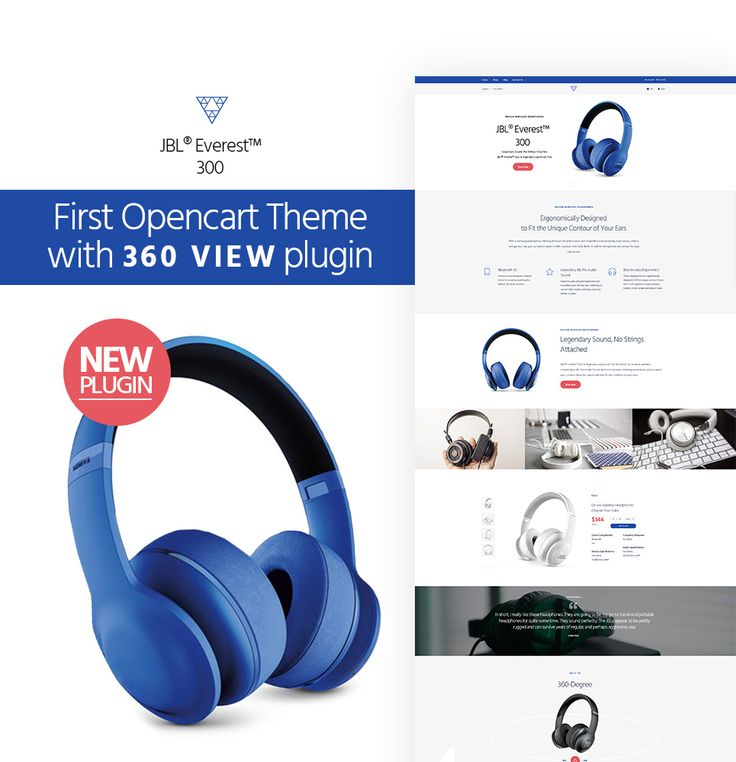 Audio Store with 360 view plugin OpenCart Template #64036