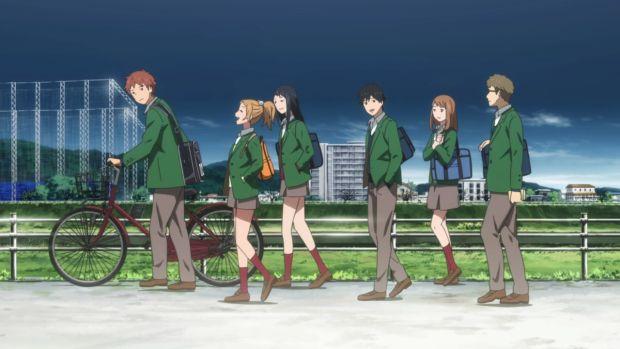 orange establishing shot, orange anime episode 1