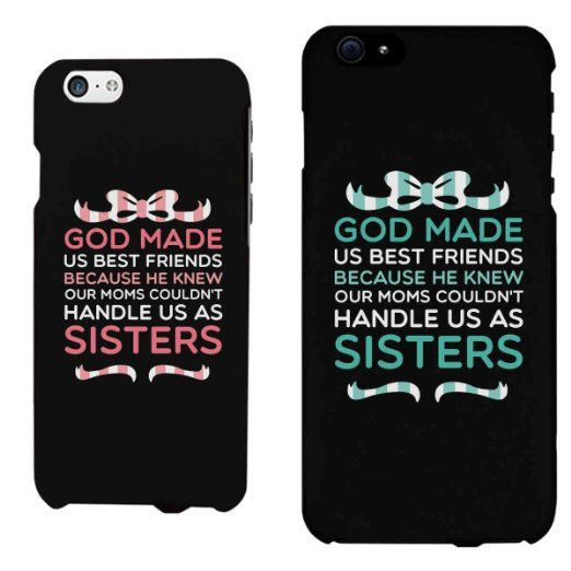 Cute BFF Phone Cases - God Made Us Best Friends Phone Covers for iphone 4, iphone 5, iphone 5C, iphone 6, iphone 6 plus, Galaxy S3, Galaxy S4, Galaxy S5, HTC M8, LG G3
