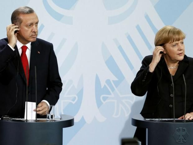 Angela Merkel has accepted a request from Turkey to seek the prosecution of comedian for reading out an offensive poem about the Turkish President Recep Tayyip Erdoğan on German television.