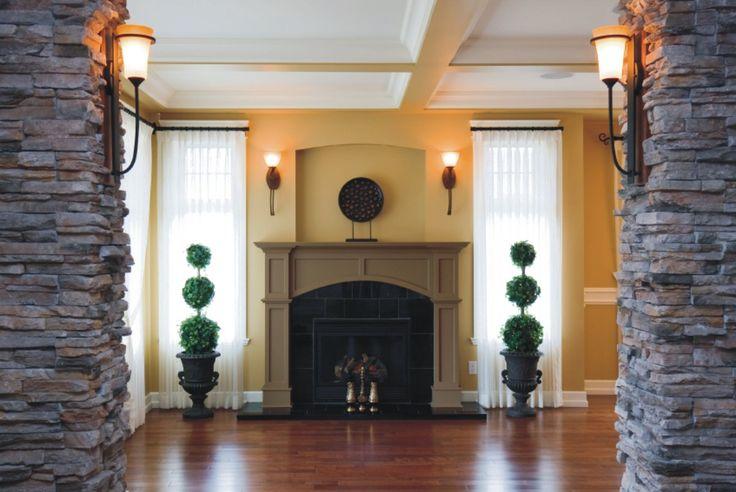 home design stone fireplace surround ideas #424