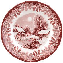 Buy Spode Winter's Scene Bread Plate Online at johnlewis.com