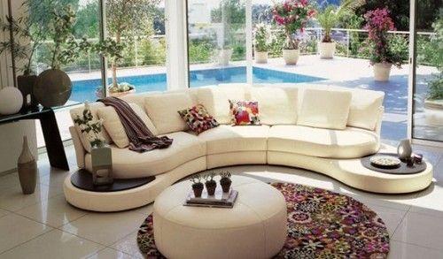 sofás modernos de canto redondo