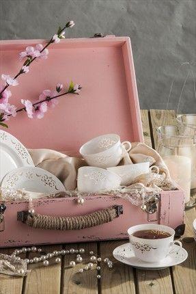 Evlilik Listesi - Sofra & Mutfak - Dantel S 12 Parça Dantelli Beyaz Çay Takımı NEVA N608 %36 indirimle 189,99TL ile Trendyol da