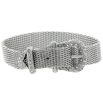 Silver Buckle Bracelet - Thumbnail 1