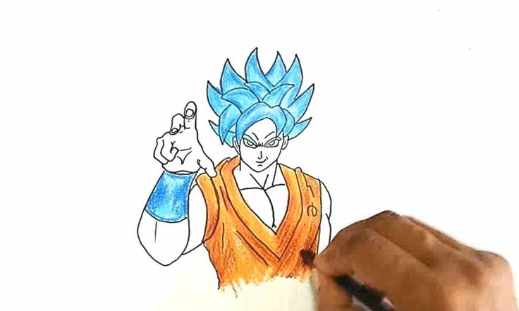 Learn how to draw Goku as Super Saiyan God Super Saiyan (SSGSS) from Dragon Ball Z: Resurrection 'F' in this step by step drawing tutorial