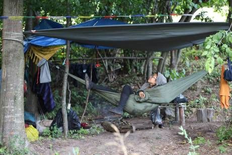 """Once a hammock girl, forever a hammock girl. Nice story by JennSunsetta: """" I use Ticket to the Moon. They produce the most comfortable hammocks an adventurer could dream of. """""""