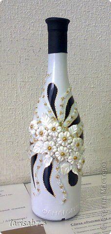 Декор предметов День учителя Лепка декор бутылок Бисер Бусины Клей Краска Фарфор холодный фото 2