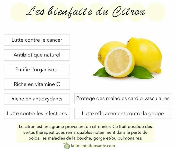 Les bienfaits du citron alimentation naturelle pinterest - Les bienfaits du stepper ...