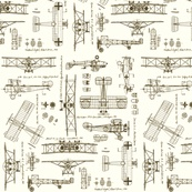 Littlest boys room airplane fabric
