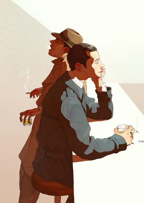 """Private Affairs"" - Fanlay: http://fanlay.deviantart.com/gallery/ ✤ || CHARACTER DESIGN REFERENCES | キャラクターデザイン | çizgi film • Find more at https://www.facebook.com/CharacterDesignReferences & http://www.pinterest.com/characterdesigh if you're looking for: bande dessinée, dessin animé #animation #banda #desenhada #toons #manga #BD #historieta #sketch #how #to #draw #strip #fumetto #settei #fumetti #manhwa #cartoni #animati #comics #cartoon || ✤"
