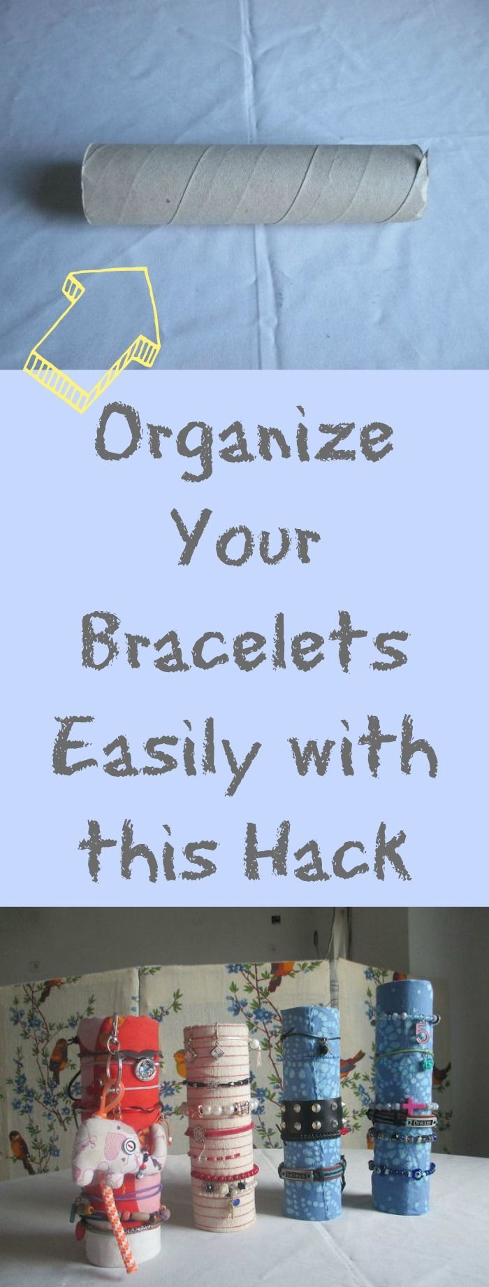 This is such a smart way to organize bracelets and would be great to have the kids make.