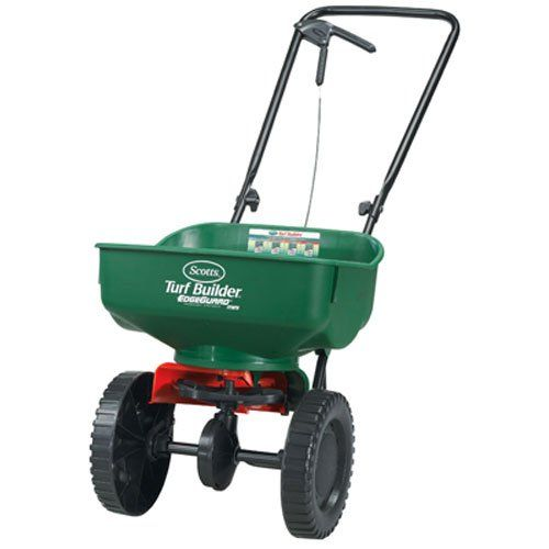 Spread product efficiently and effectively with Scotts Turf Builder EdgeGuard Mini Broadcast Spreader. Equipped with Scotts exclusive EdgeGuard Technology you can trust that the product you spread wi...