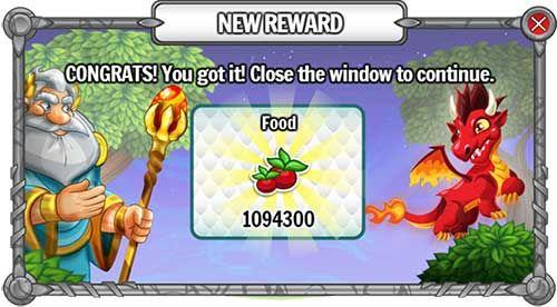 vocé pode ganhar 1094300 de comida e 1000000000m de ouro e 81883692m de gemas