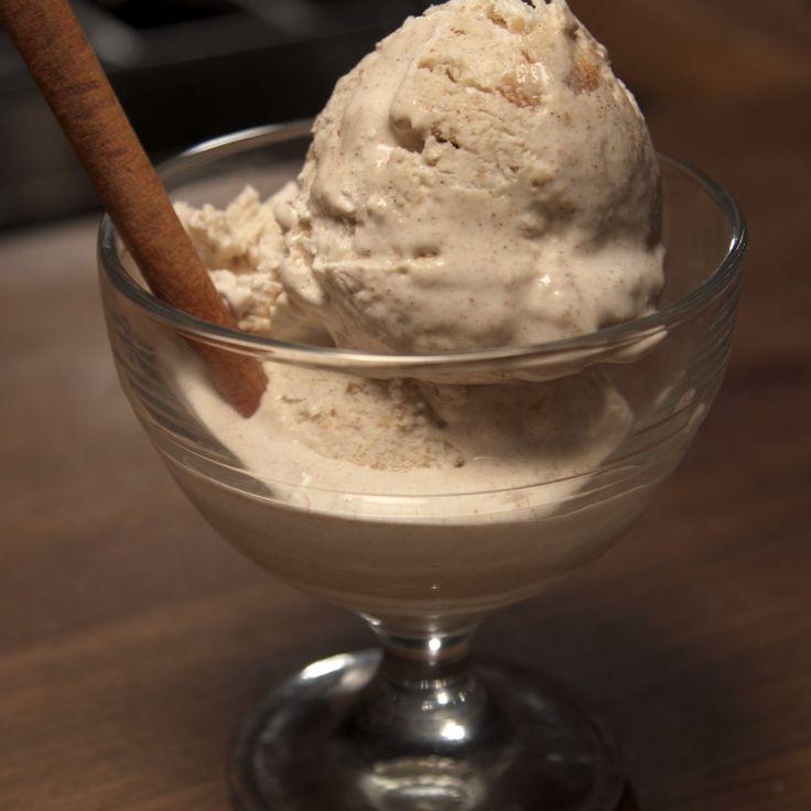 Snickerdoodle ice cream has cinnamon and vanilla in the ice cream and chopped with snickerdoodle cookies.
