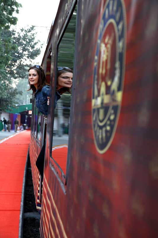 Maharajas Express Train Exterior.  #India #Travel #IncredibleIndia #Vacation #ThingsToDo #Tourist #TouristAttractions #Tourists #India #Tour #Traveling #Tours #Luxury #Hotel #Destination #Trip #PlacesToSee #Culture #Attractions #TheMaharajaExpress #MaharajasExpress LuxuryTrain #Palaceonwheels #MaharajaExpress