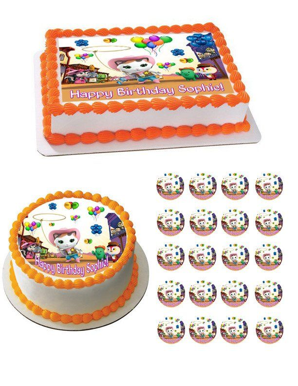 Sheriff Callie's Wild West Cast Edible Birthday Cake Topper OR Cupcake Topper, Decor - Edible Prints On Cake (Edible Cake &Cupcake Topper)
