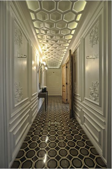 all in the details the #hallway decor including the feature #wall #paneling and plastering is breathtaking