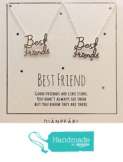 Best friend pendant necklace, BFF Necklace, friendship necklace for 2, Silver 925 plated necklace, Best friend necklaces 2 piece. Pendant size : 19mm * 14mm from DIANPEARL https://www.amazon.com/dp/B01M4RC6Y5/ref=hnd_sw_r_pi_dp_5LwkybT12W7G1 #handmadeatamazon