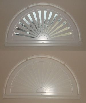 Moveable arched window treatments for half & quarter circle windows