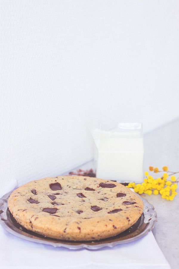 Recette cookie géant, extra moelleux, coeur mi cuit pépites de chocolat noir côté d'or - Blog Lifestyle cuisine Dollyjessy