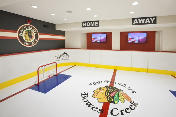 Every ice hockey lovers dream come true, a mini rink to fill their flex space. (Toll Brothers at Bowes Creek Country Club, IL)