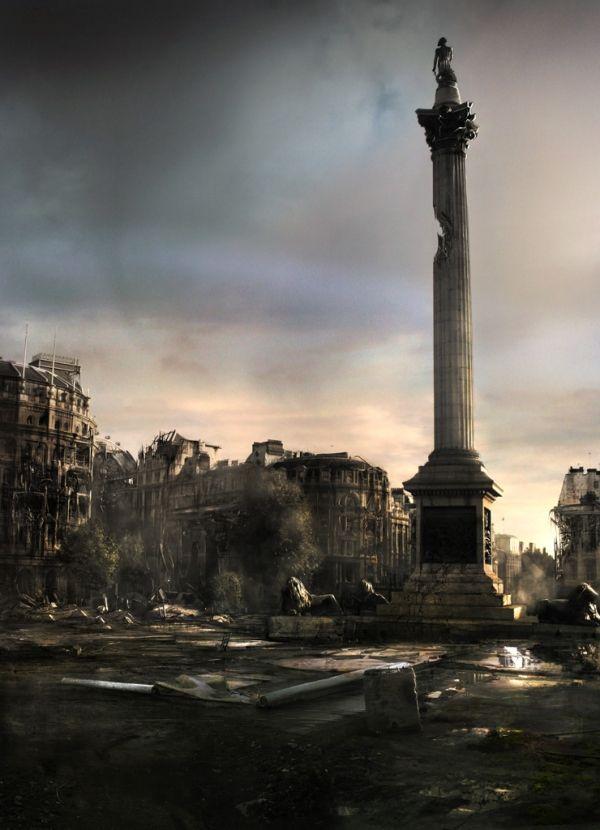 James Chadderton | Apocalype style digital imagery | Trafalgar Square, London