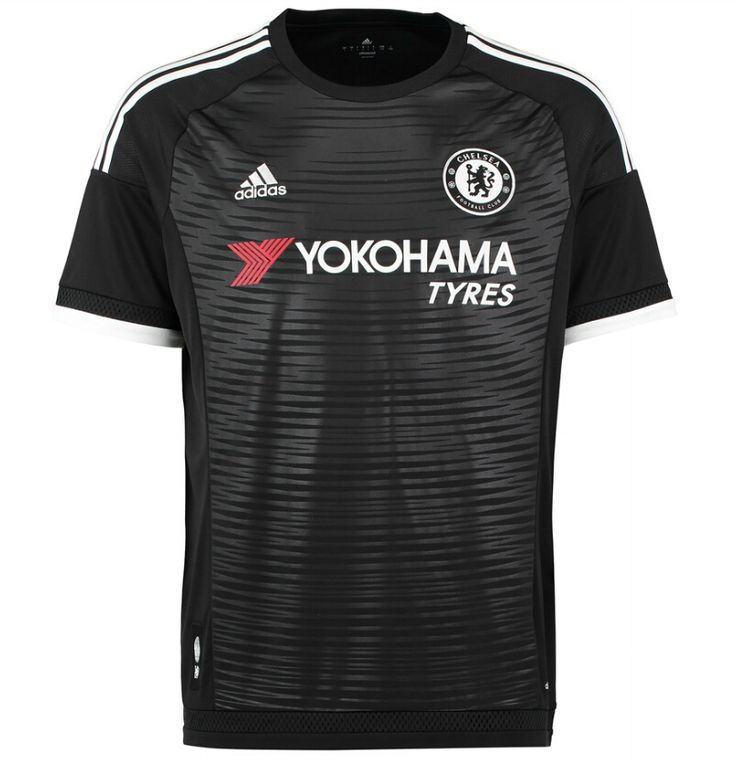 Chelsea today revealed the black Chelsea 15-16 Third Kit, after the Chelsea Home and Away Shirts were unveiled earlier. The new Chelsea 2015-2016 Home, Away and Third Kits feature unique designs for the English Premier league club.