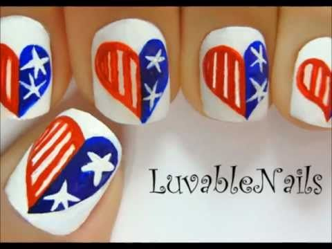 easy memorial day nail art