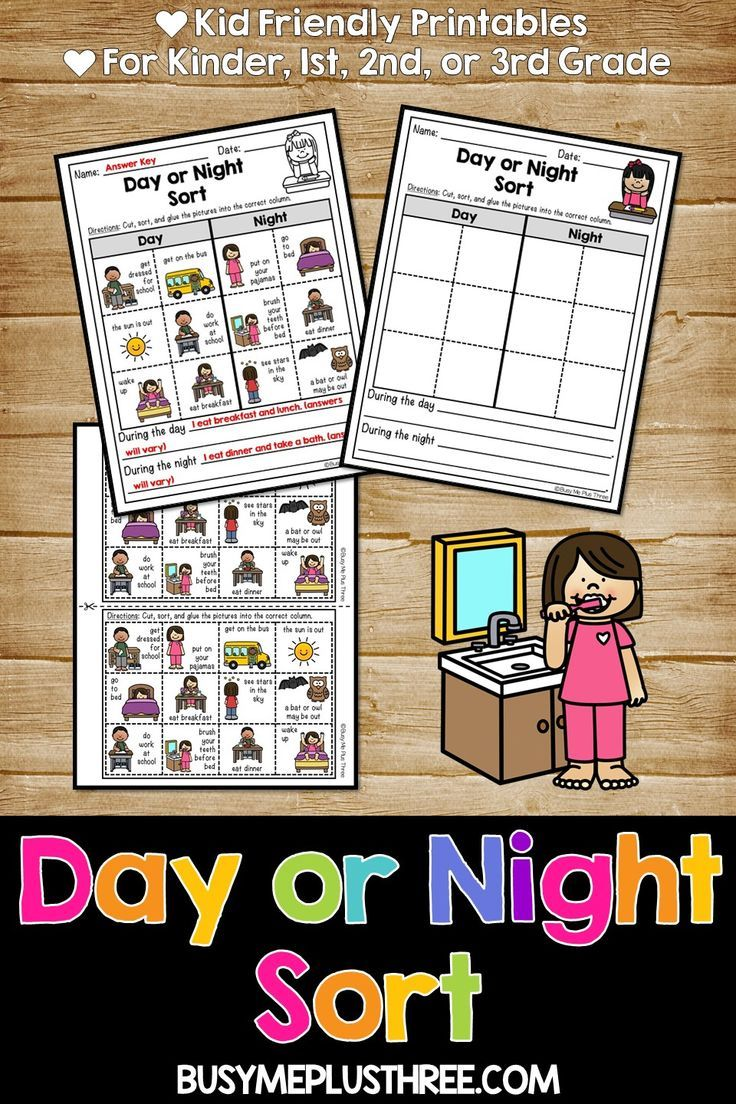 Day Or Night Sort Print Digital Option For Distance Learning Google Classroom Sorting Sorting Activities Activities