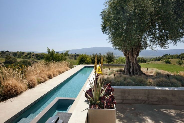 A beautiful modernist home, built by architect Frederick Fisher in 2006, sits on a former cattle ranch in Santa Ynez, California