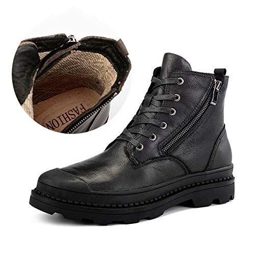 a791fc4f4f0 RUI Men's Booties, Fall/Winter Plus Velvet Martin Boots Men Lace-up ...