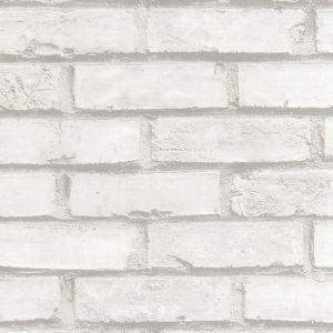 Kontaktplast / Selvklebende folie i hvit murstein. Perfekt til veggen på kjøkken, stue og soverom. Kan fjernes igjen, så den er også perfekt til leietakere. #diy #oppussing