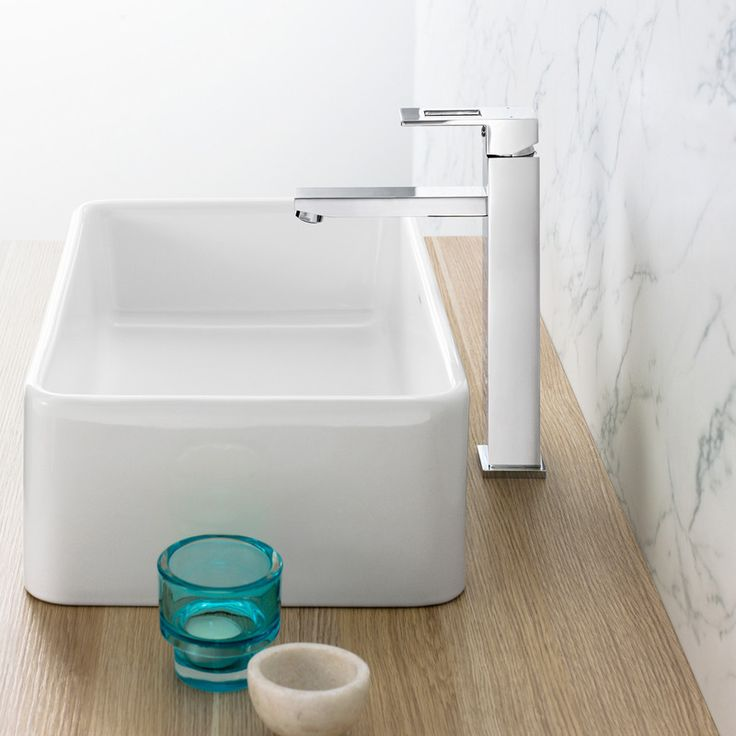 Quatro Tower Basin Mixer - Effortlessly Stylish.  http://www.caroma.com.au/bathrooms/mixer-taps/quatro/quatro-tower-basin-mixer