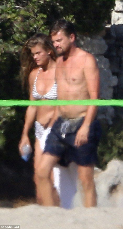 Leonardo DiCaprio confirms romance with Nina Agdal with beach PDA | Daily Mail Online
